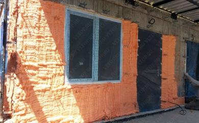 Утепление бетонной стены фасада с помощью НПУ POLYNOR