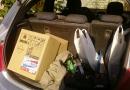 транспортировка полинора в машине