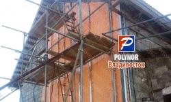 Утепление фасада снаружи по пеноблоку - Полинор (Polynor) Владивосток
