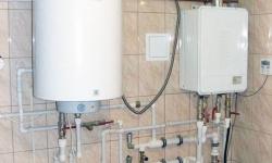 Установка водонагревателя для отопления и горячей воды ХГВС